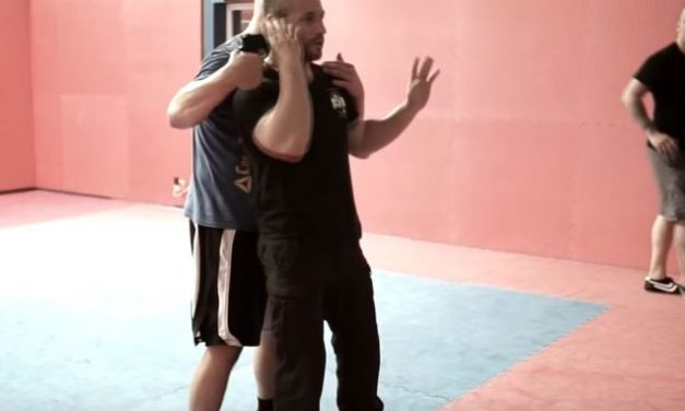 Lior offenbach's demonstration in Krav Maga seminar